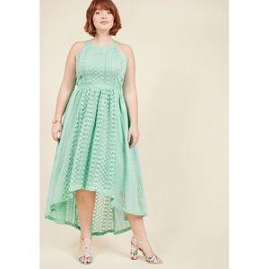 MODCLOTH Harmonious Ceremony High-Low Mint Dress